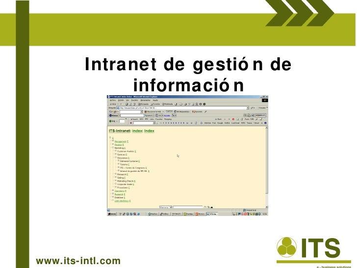 www.its-intl.com Intranet de gestión de información