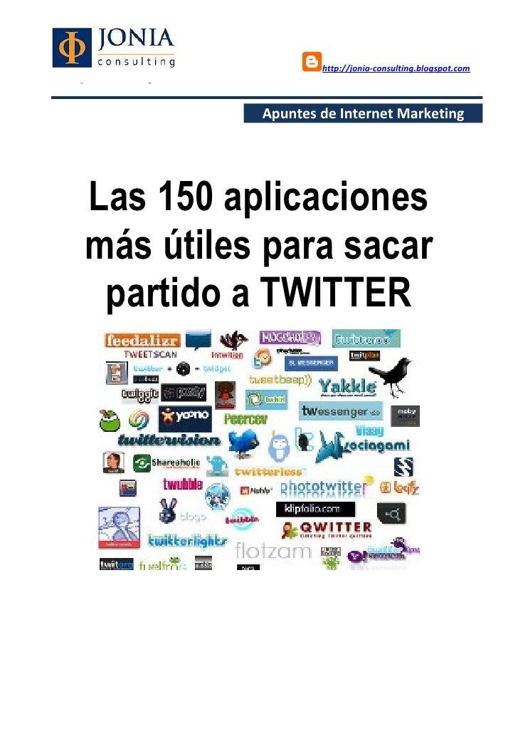 Las 150 aplicaciones más útiles para sacar partido a twitter