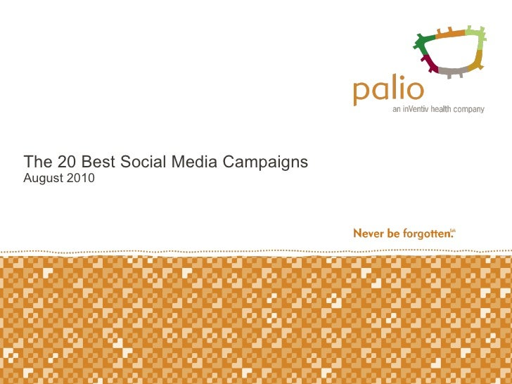 The 20 Best Social Media Campaigns August 2010