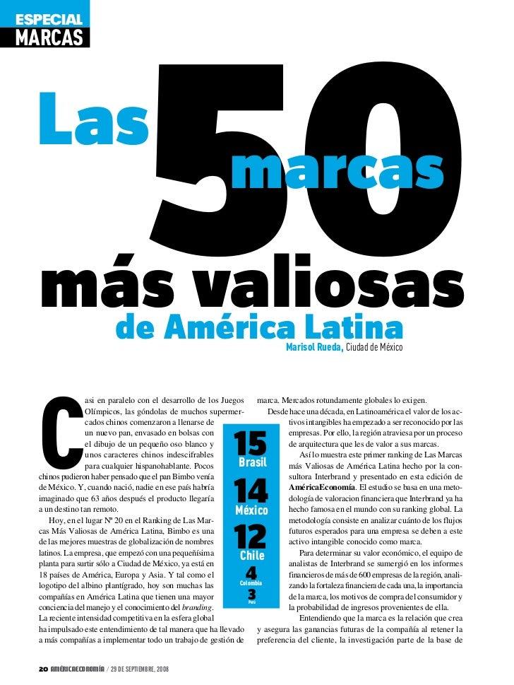 50ESPECIALMARCAS  Las                                                              marcas  másAmérica Latina   de      val...