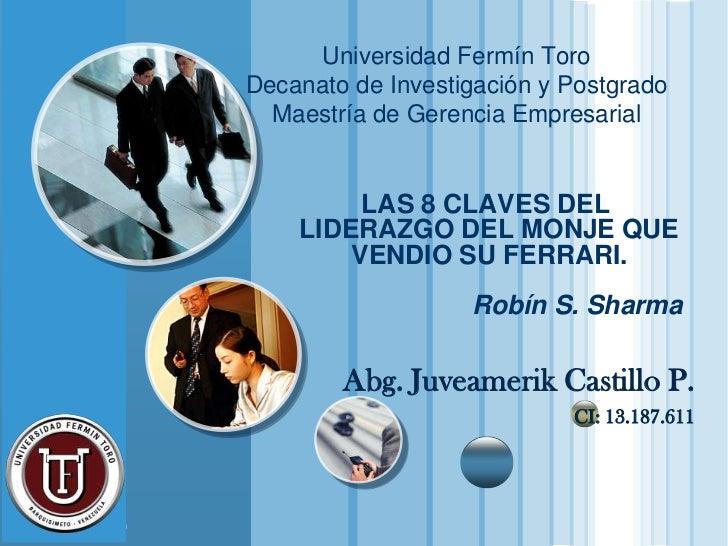 Universidad Fermín Toro                       Decanato de Investigación y Postgrado                         Maestría de Ge...