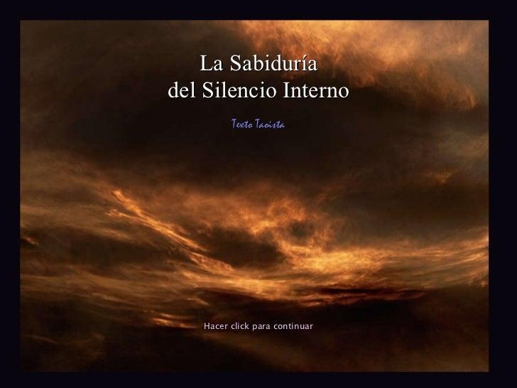 La sabiduría del silencio interno
