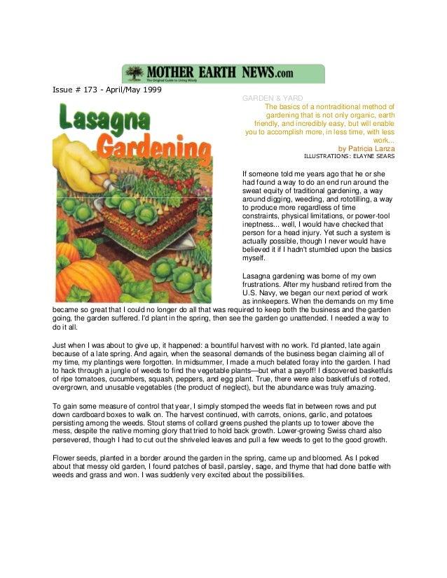 Lasagna Gardening - Mother 2