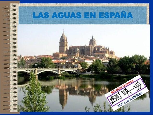 LAS AGUAS EN ESPAÑA