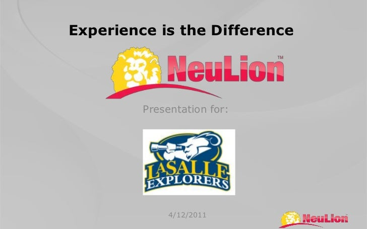 Experience is the Difference<br />Presentation for:<br />4/12/2011<br />