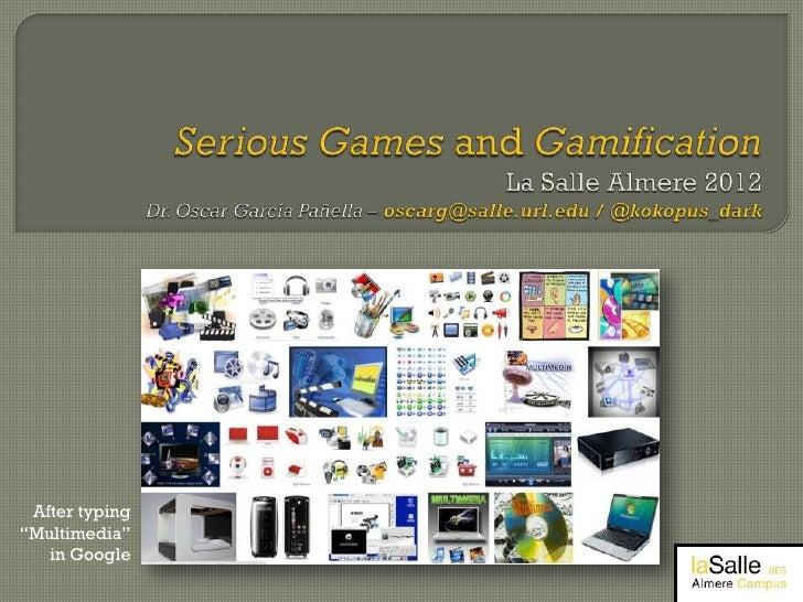 Serious Games Workshop Almere 2012 part 1