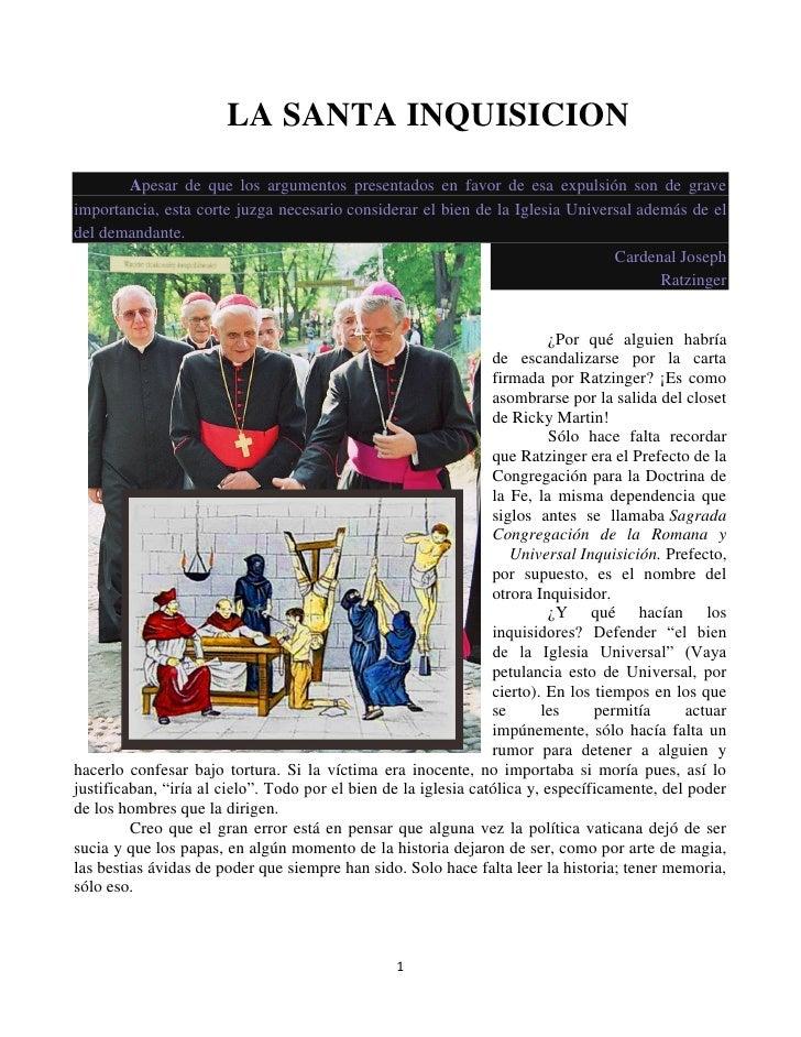 La  santa inquisicion torquemada  y la iglesia catolica