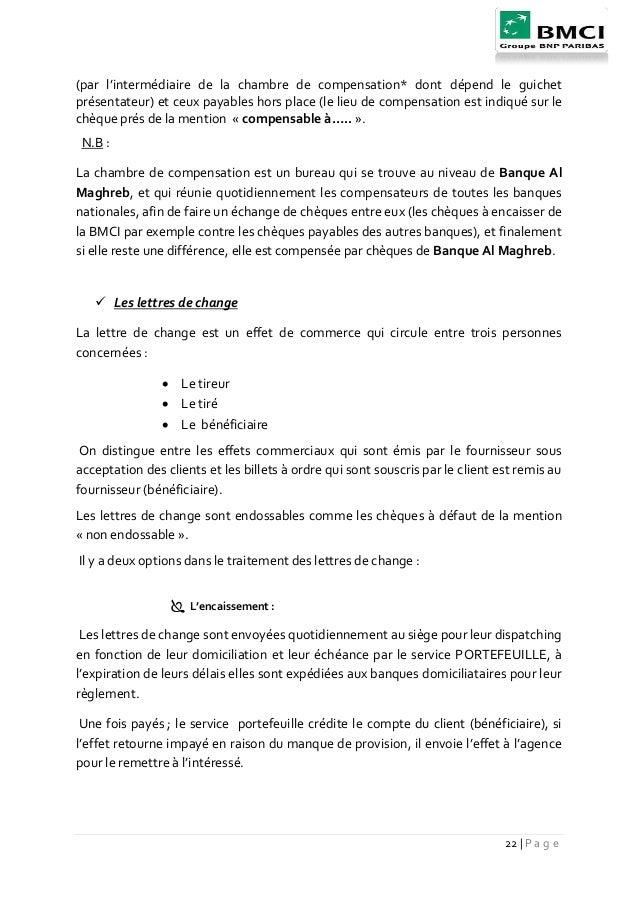 La satsfaction des client bmci marrakech for Chambre de compensation bancaire