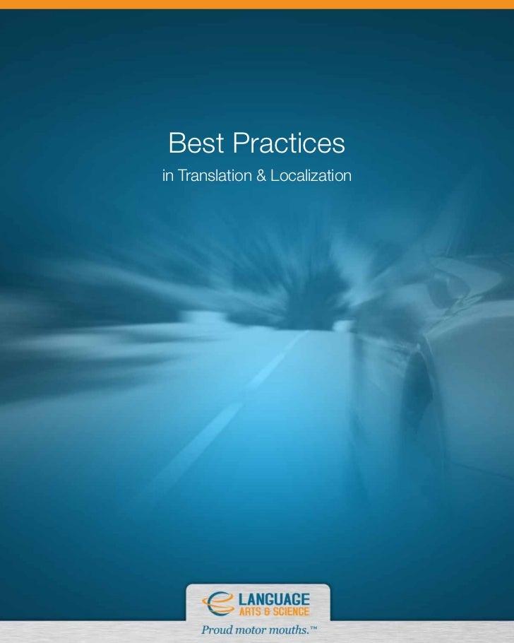 Best Practicesin Translation & Localization