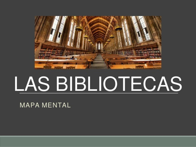 Las bibliotecas- Mapa Mental