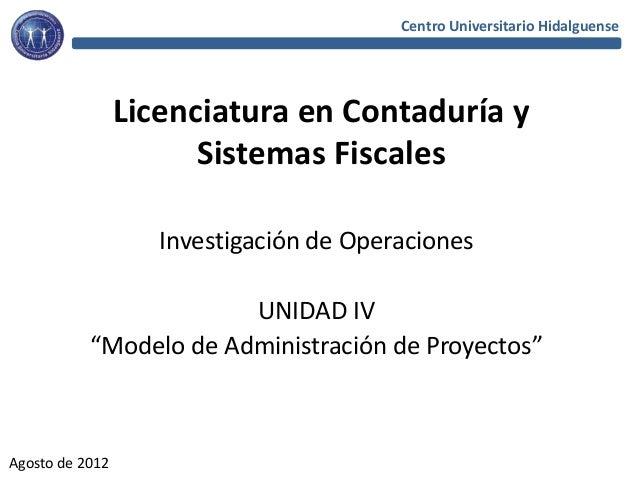 Centro Universitario Hidalguense                 Licenciatura en Contaduría y                       Sistemas Fiscales     ...