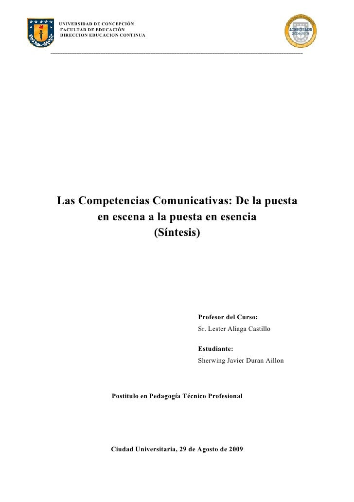 Las Competencias Comunicativas