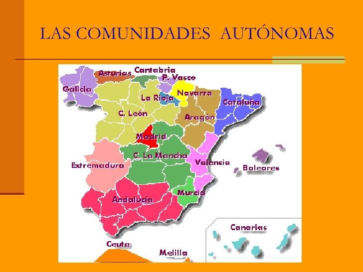 Las comunidades  autonomas