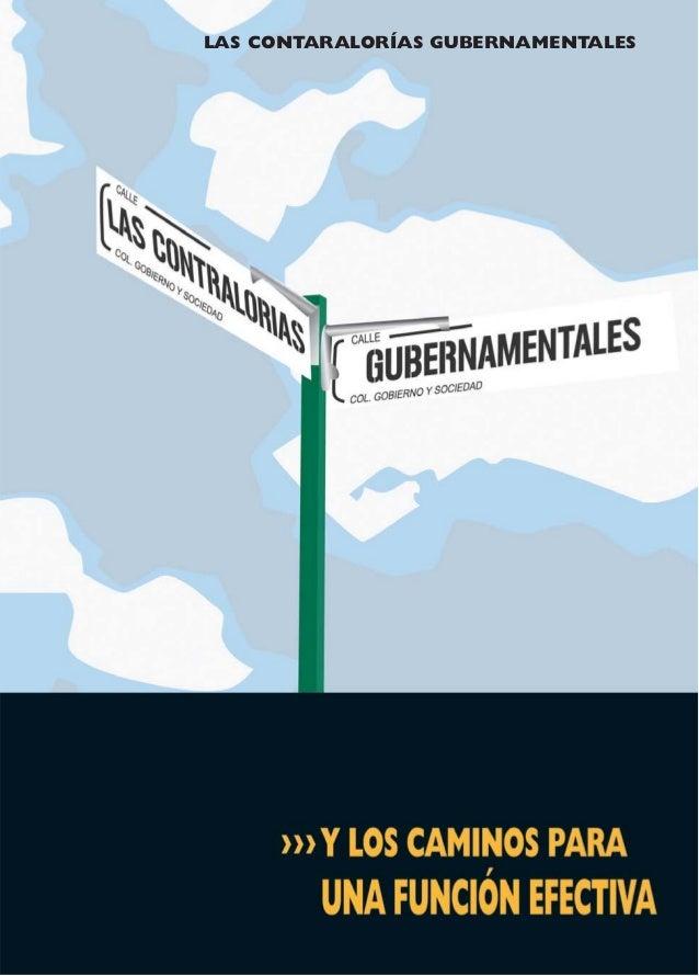 1 LAS CONTARALORÍAS GUBERNAMENTALES