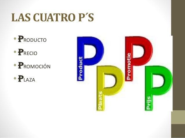 LAS CUATRO P´S •PRODUCTO •PRECIO •PROMOCIÓN •PLAZA