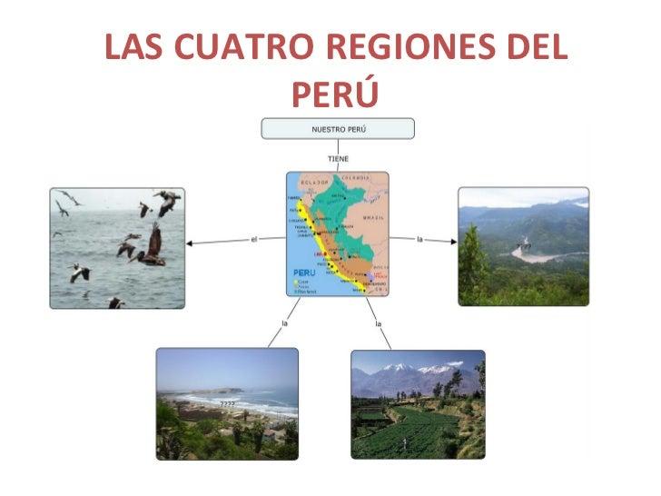 LAS CUATRO REGIONES DEL         PERÚ