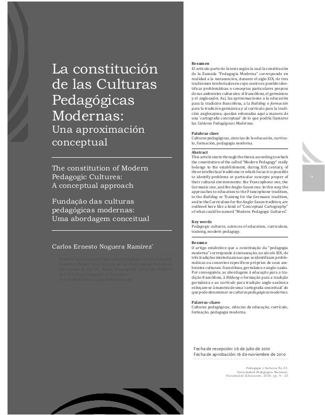 La constitución                                  Resumende las CulturasPedagógicas                                        ...