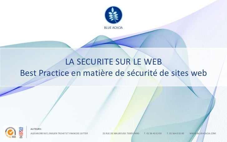 BLUE ACACIA                                                      BLUE ACACIA            LA SECURITE SUR LE WEBBest Practic...