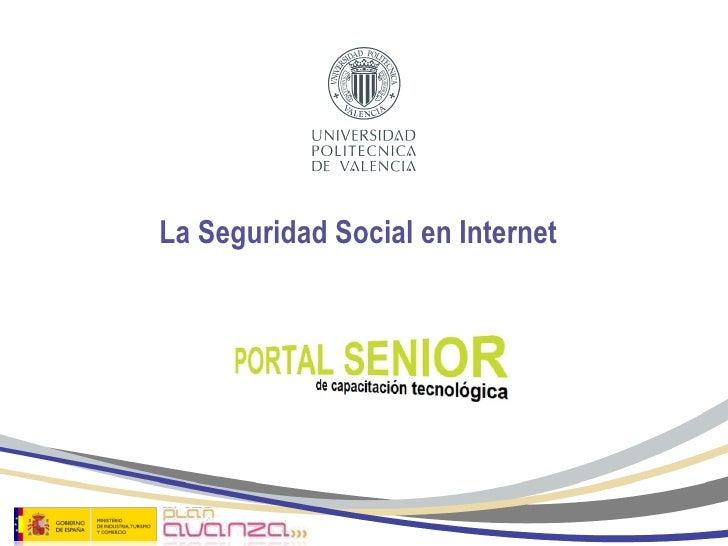 La Seguridad Social en Internet
