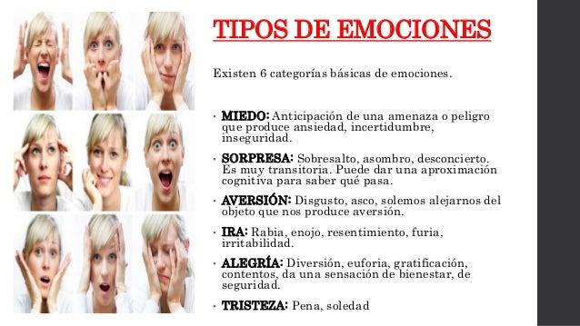 Tipos de Emociones Imagenes Tipos de Emociones Existen 6