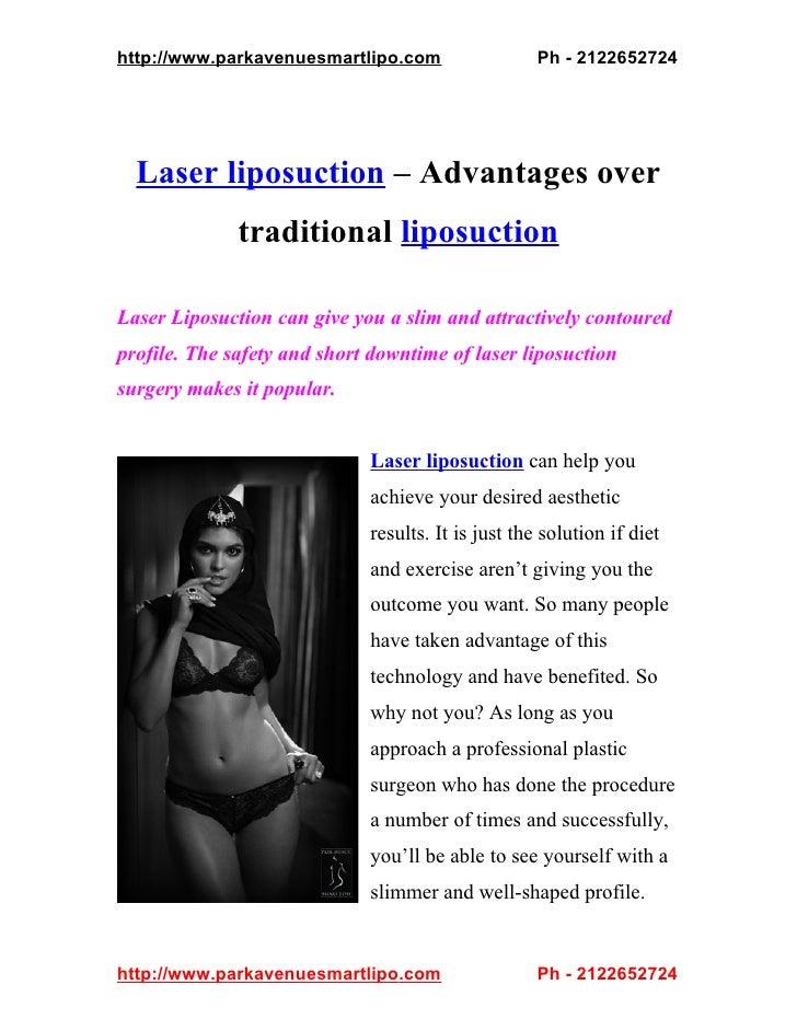 http://www.parkavenuesmartlipo.com                  Ph - 2122652724  Laser liposuction – Advantages over              trad...