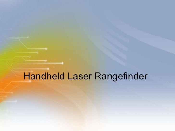 Handheld Laser Rangefinder