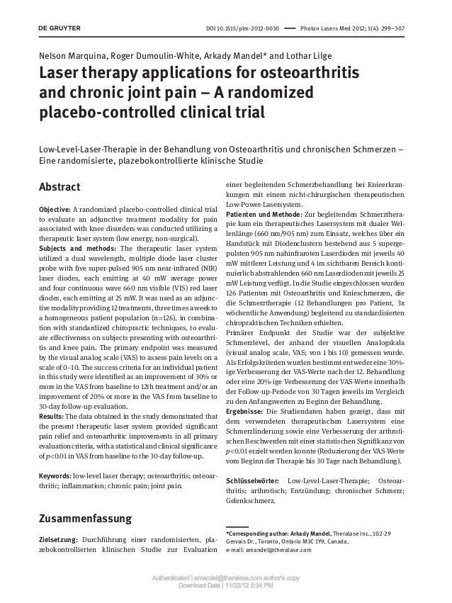 DOI 10.1515/plm-2012-0030 Photon Lasers Med 2012; 1(4): 299–307Nelson Marquina, Roger Dumoulin-White, Arkady Mandel* and...