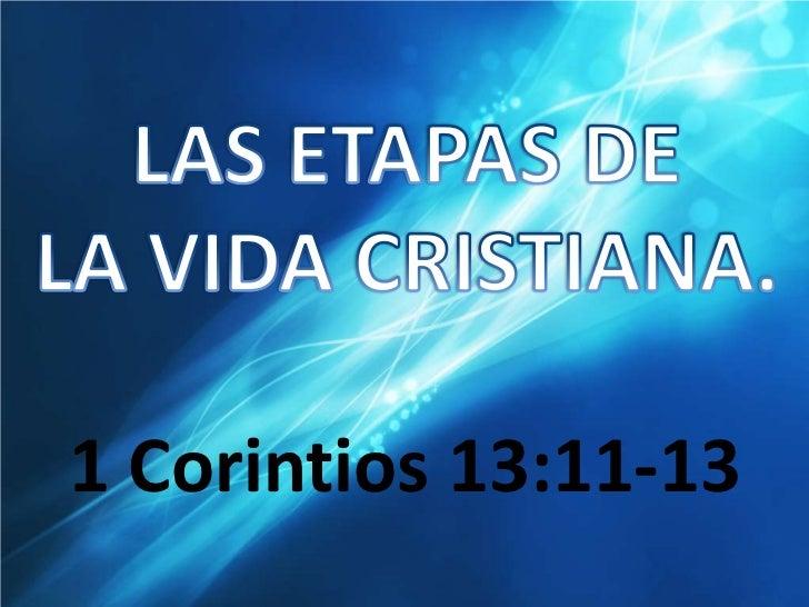 Las etapas de la vida cristiana