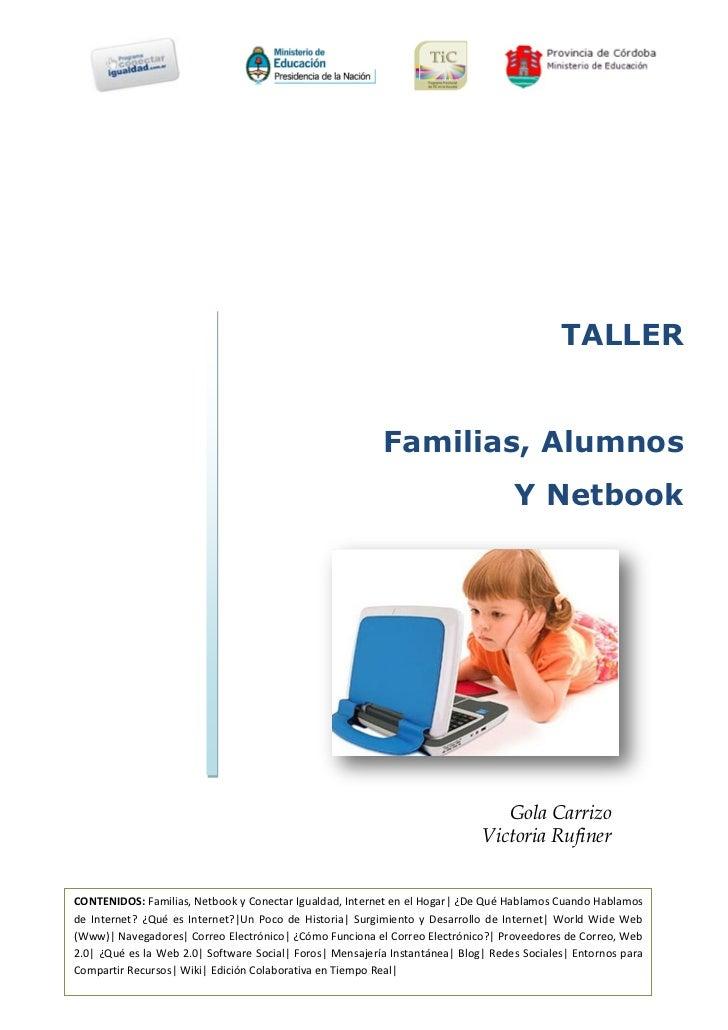 TALLER                                                          Familias, Alumnos                                         ...