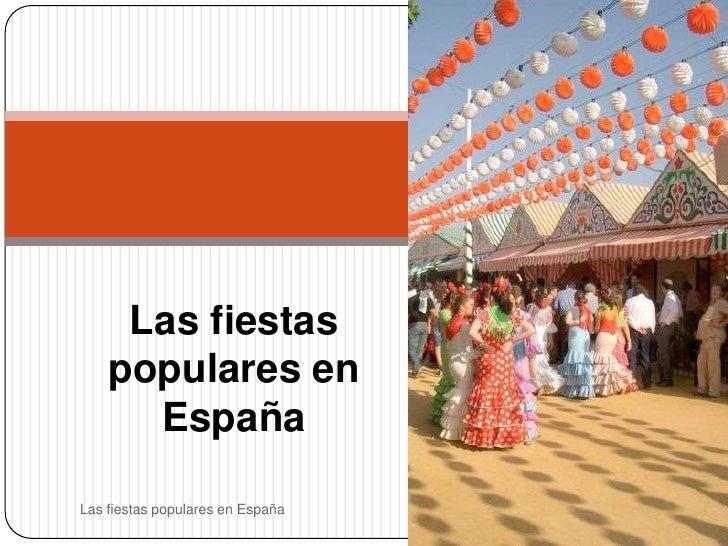 Las fiestas populares en españa