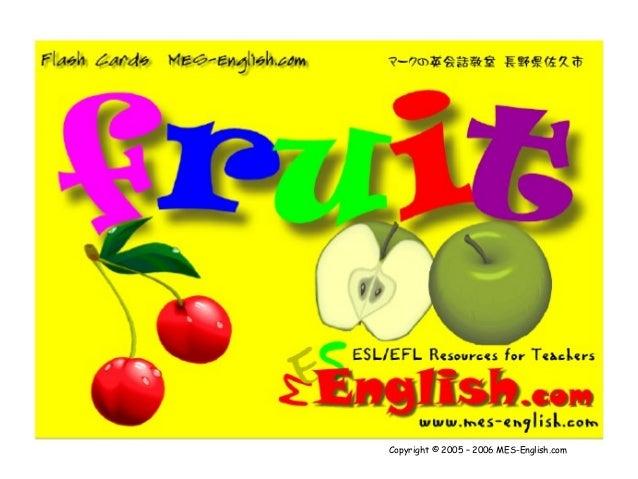 Las frutas en ingles