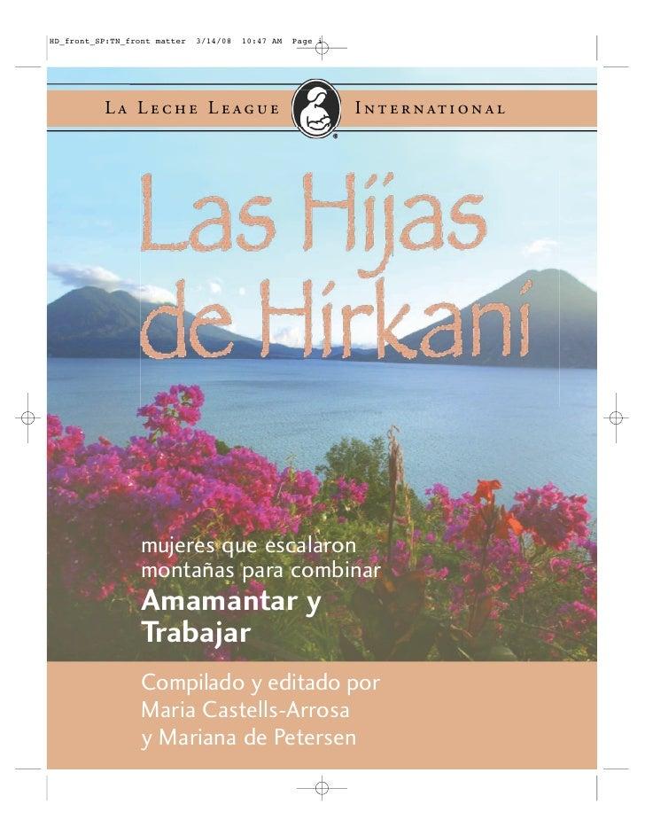 Las Hijas De Hirkani, Libro