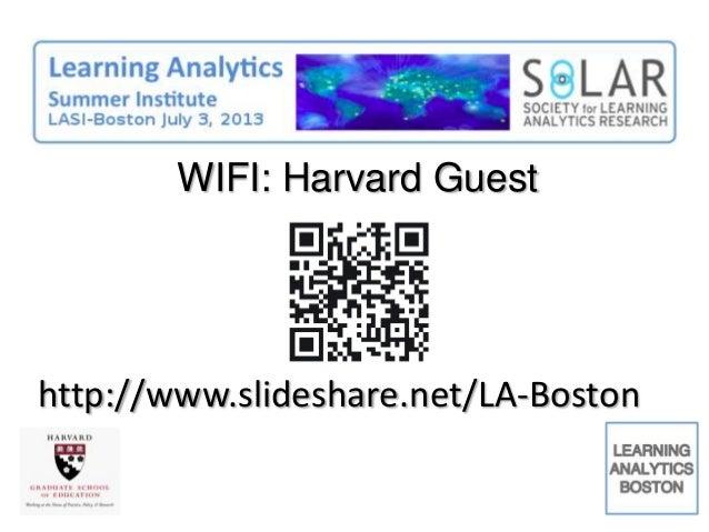 WIFI: Harvard Guest http://www.slideshare.net/LA-Boston