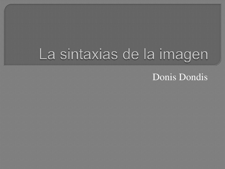 Donis Dondis