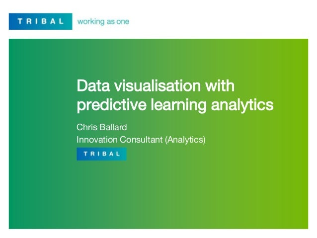 Data visualisation with predictive learning analytics