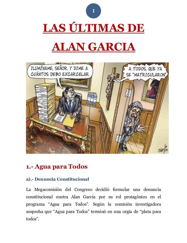 Las últimas de Alan García