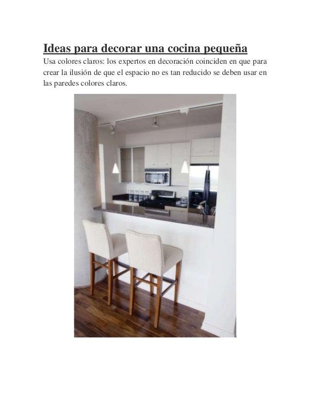 Las mejores ideas y consejos para decorar una cocina peque a - Ideas para decorar una cocina pequena ...