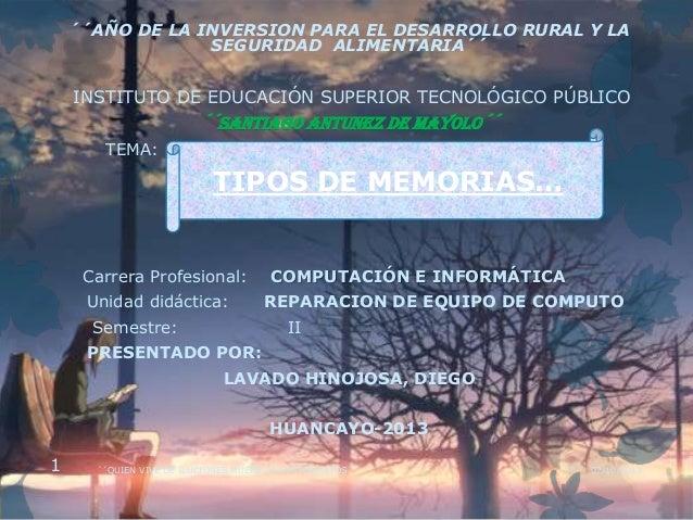 ´´AÑO DE LA INVERSION PARA EL DESARROLLO RURAL Y LA SEGURIDAD ALIMENTARIA´´ INSTITUTO DE EDUCACIÓN SUPERIOR TECNOLÓGICO PÚ...