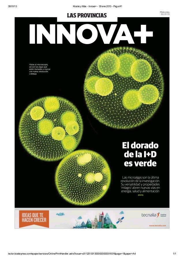 Las microalgas abren nuevas vías en energía, salud y alimentación