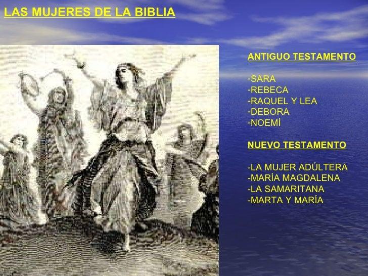 Las mujeres de la biblia