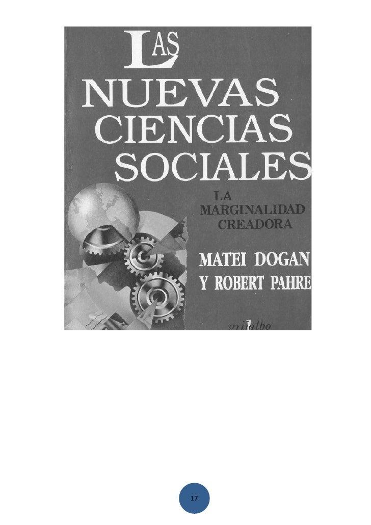 Las Nuevas Ciencias Sociales Dogan Pahré