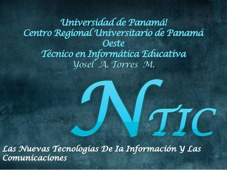 Las nuevas tecnologías de ia información y las comunicaciones  ntic gyosel