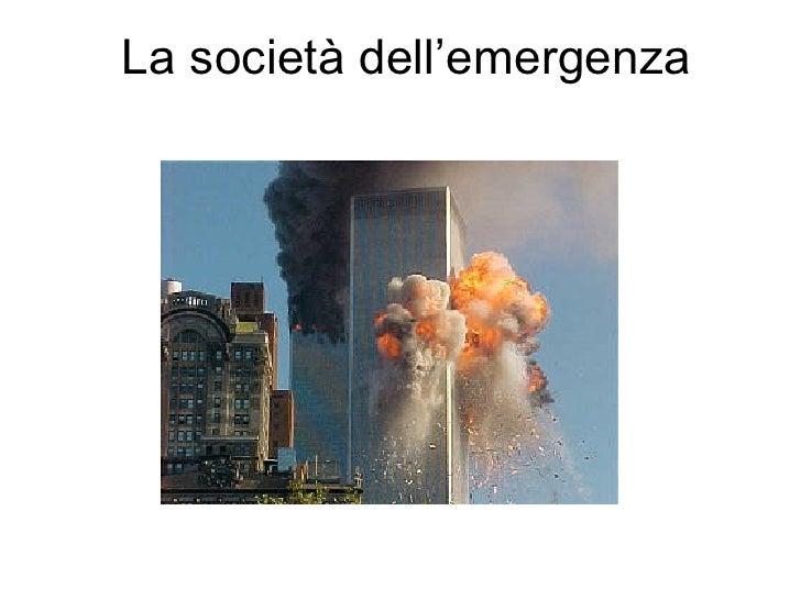 La Società dell'emergenza (tratto da U.Beck)