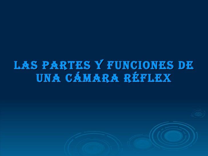 Las partes y funciones de una cámara réflex