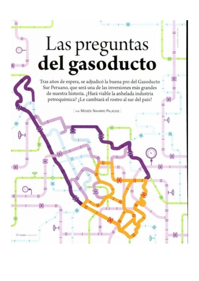= N 'o ¡ü l'!   c} Las preguntas A  del gasoducto  Tras años de espera,  se adjudicó la buena pro del Gasoducto ' Sur Peru...