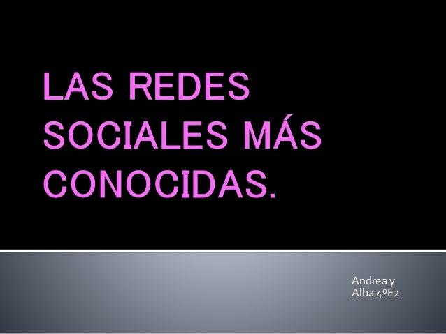 Andrea y Alba 4ºE2