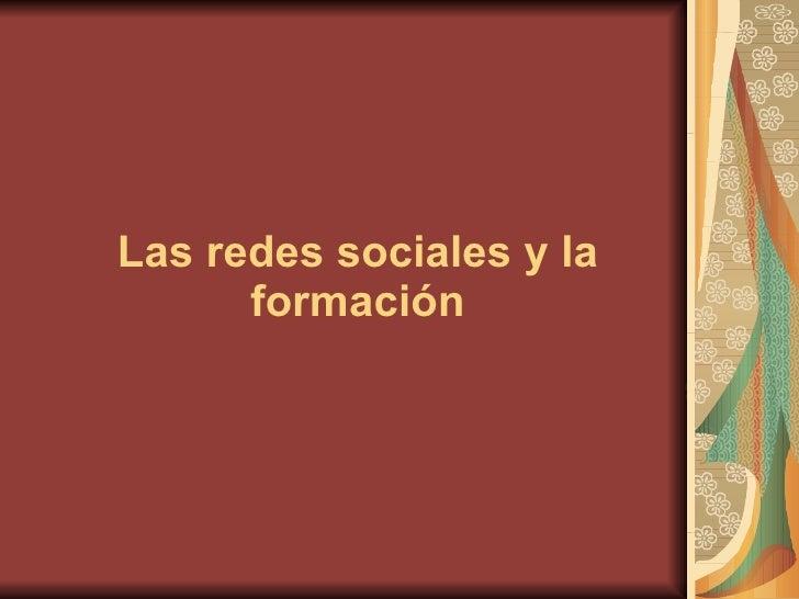 Las redes sociales y la formación