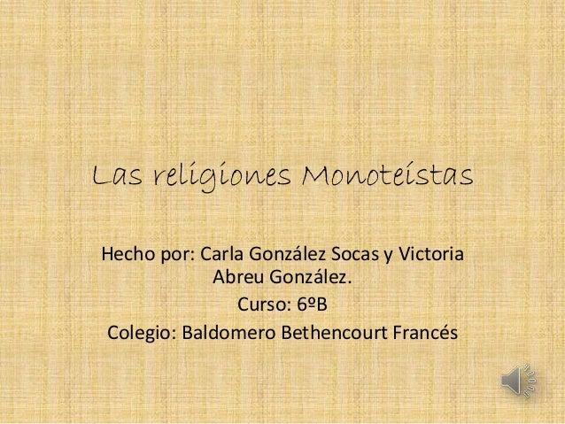 Las religiones monote_stas2