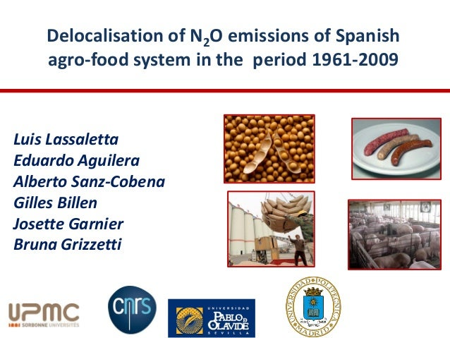 Delocalisation of N2O emissions of Spanishagro-food system in the period 1961-2009Luis LassalettaEduardo AguileraAlberto S...