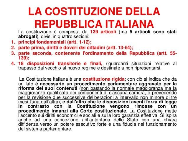 La nascita e lo spirito della costituzione italiana for Repubblica parlamentare italiana